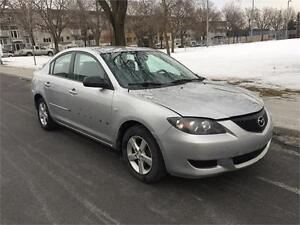 2004 MAZDA 3 , AUTOMATIQUE , AIR CLIMATISE, 4 CYLINDRE 2.0 LITRE