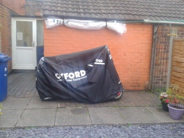 Motorbike Waterproof Dust Outdoors Weather Protection Black Cover - Oxford Stormex RRP £70 - Used