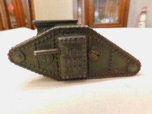 Vintage U.S. Tank Bank Cast Iron