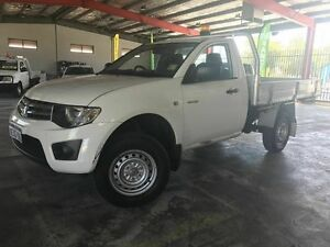 2013 Mitsubishi Triton MN MY14 GLX White 4 Speed Sports Automatic Cab Chassis Welshpool Canning Area Preview