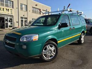 2009 Chevrolet Uplander Cargo Van LADDER RACKS-ONLY 60KM!!