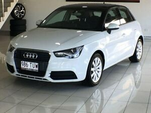 2014 Audi A1 8X MY14 Attraction Sportback S Tronic White 7 Speed Sports Automatic Dual Clutch Southport Gold Coast City Preview