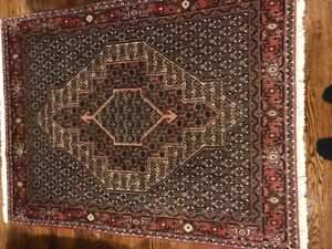 "48"" X 66"" Persian Wool hand woven area carpet"