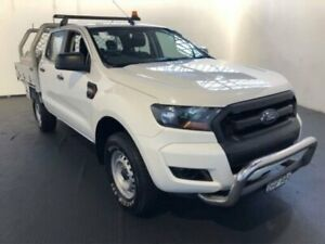 2015 Ford Ranger PX MKII XL DOUBLE CAB White Manual Dual Cab Chassis