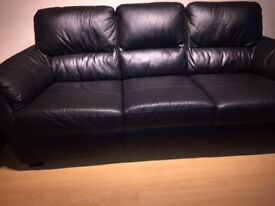 Black full leather Sofa
