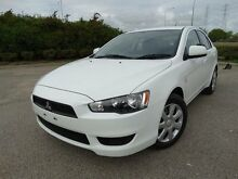 2012 Mitsubishi Lancer CJ MY12 ES Sportback White 6 Speed CVT Auto Sequential Hatchback Vincent Townsville City Preview