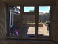1.6m uPVC Double Glazed Window with Shutters