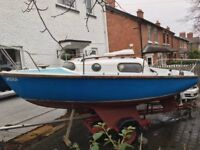 Leisure 17 twin keel yacht sailing boat for sale