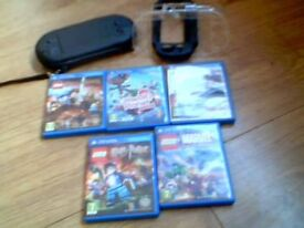 ps vita great condition,with 5 games