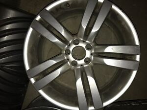 Two Authentic Mercedes Rims 20 inch and Dunlop Tires