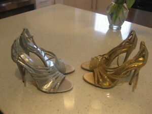 Silver and Gold Sparkly Sandals
