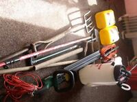 Selection of used garden tools for sale