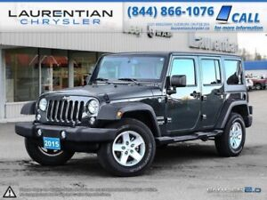 2015 Jeep Wrangler Unlimited SAHARA FEATURES WITH A 100K  WARRAN