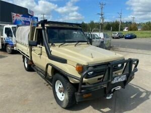 1990 Toyota Landcruiser HZJ75RP (4x4) Fawn 5 Speed Manual 4x4 Cab Chassis Lilydale Yarra Ranges Preview
