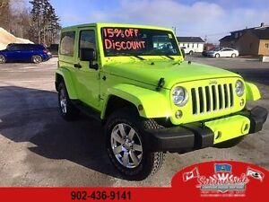2016 Jeep Wrangler Sahara 4X4 Hyper Green SAVE 15% !!