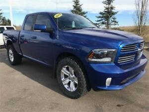 Take a look at this 2015 Ram 1500 Sport Quad 4x4 ~ Call Us!