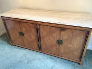 Dining room buffet/sideboard with marble top