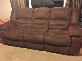 2 + 3 seater sofas - brown
