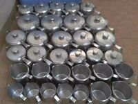 33 Stainless steel catering cafe teapots and milk jugs