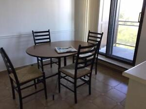 """FOUR  CHAIRS  AND  TABLE WOOD """"OVALE"""""""