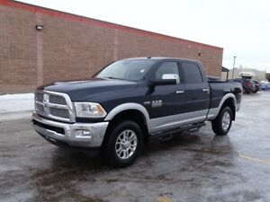 2014 Ram 2500 4WD CREWCAB LARAMIE Accident Free,  Leather,  Heat