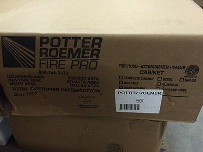 Potter Roemer 6607 Semi-recessed Fire Blanket Cabinet New