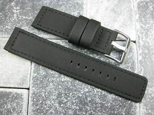 New-22mm-Black-PVC-Rubber-Diver-Strap-watch-Band-NAVITIMER-Maratac-22-Pilot