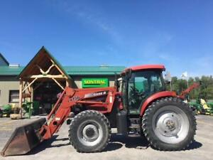 2004 CASE IH MXU135 FARM TRACTOR WITH LOADER