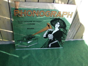 """For sale Mirror phonograph Edison Mirror size 24"""" x 24"""" asking $"""