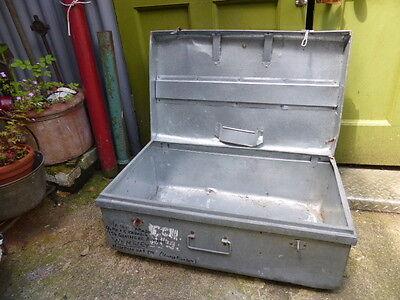 Vintage galvanised metal trunk- industrial style