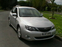 57 REG SUBARU IMPREZA 2.0 R SPORTSWAGEN 5 DOOR ESTATE IN SILVER HPI CLEAR