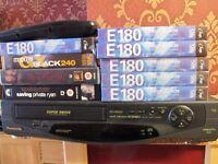 panasoni video and tape bundle