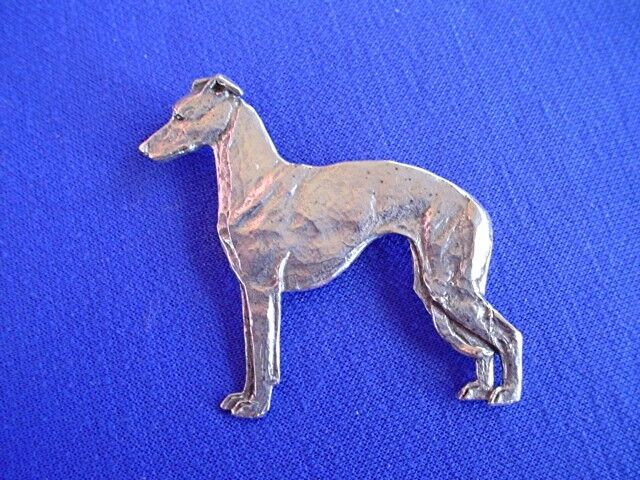Italian greyhound pin whippet #12Ba Pewter Dog Jewelry by Cindy A. Conter