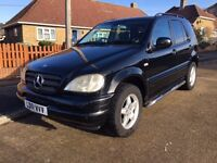 2001 Mercedes ML270Cdi Auto, 7 seater, Nice clean car, Full black heated leather