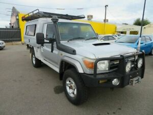 2008 Toyota Landcruiser VDJ79R GXL (4x4) Silver 5 Speed Manual Cab Chassis