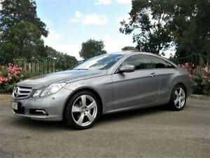 2009 Mercedes-Benz E250 CGI C207 Avantgarde Silver 5 Speed Sports Automatic Coupe Enfield Port Adelaide Area Preview
