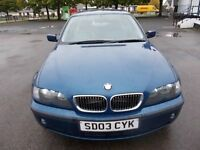 BMW 320I 2.2 SE SALOON 03 REG,, FULL SERVICE HISTORY,, LEATHER INTERIOR,, MOT JUNE 2018