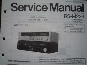 TECHNICS-RS-M226-Cassette-Tape-Deck-Service-manual-wiring-parts-diagram-RS-M24