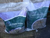 Purple Slate Stone Garden Ground Cover 2 bags.