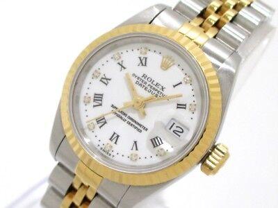 Auth ROLEX Datejust 69173G Silver Gold(18KYG) White Women