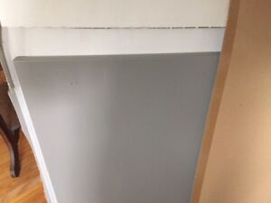two grey side pieces for ikea kitchen