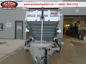 JUST ARRIVED, 6X10 GALVANIZED DUMP TRAILER, NO MORE RUST!!