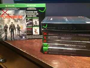 Xbox one Games a few left: Star Wars Battlefront , GoW, Halo 5