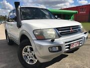 2002 Mitsubishi Pajero NP Exceed LWB (4x4) White 5 Speed Auto Sports Mode Wagon Slacks Creek Logan Area Preview