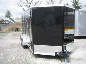 "7X14 + 30"" VNOSE TANDEM AXLE TRAILER WITH REAR RAMP Oakville / Halton Region Toronto (GTA) image 3"
