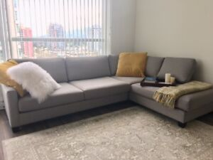 Sectional Sofa Made in Canada Ash Grey Colour