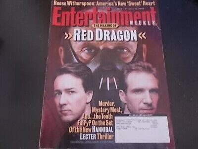 James Van Der Beek, Red Dragon - Entertainment Weekly Magazine 2002