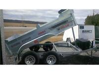 2016 K-Trail Galvanized 6`x10`Dump Trailer
