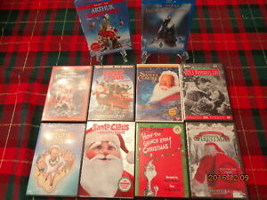 Christmas DVDs & Blu-Ray Movies:  10 Movies For $25.00!