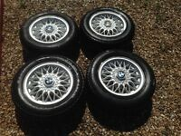 "BMW E30 14"" BBS ALLOY WHEELS"